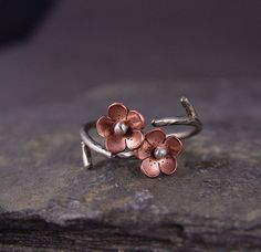 Cherry Blossom Branch Adjustable Ring1 ring  MADE to by HapaGirls, $32.00