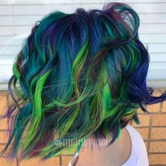 Mermaid galaxy hair #goodhairdaybysydlopez #headlineshairdesigndentontx #hairandmakeupbysyd
