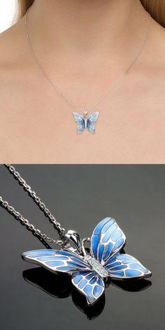 Women's Custom Mariposa Azul Negro Slip On De Tablero De