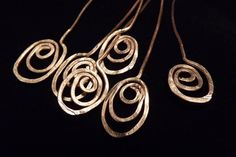 '10 Open Oval Swirl Headpins Copper' is going up for auction at 12pm Mon, Nov 19 with a starting bid of $5.
