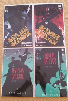 Batman/Grendel 4 comics from 1993 and 1996 by on Etsy Comic Book Heroes, Comic Books, Batman Comics, Celebration, Handmade Gifts, Etsy, Art, Kid Craft Gifts, Art Background