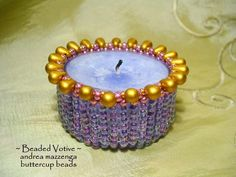 Beaded votive candle inspiration
