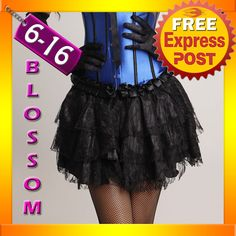 Burlesque Moulin Rouge Black Tiered Skirt