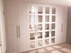 sprayed mirrored doors wardrobe