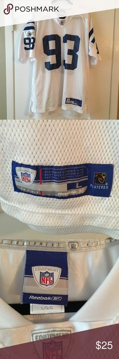 Dwight Freeney Equipment Replica Jersey by Reebok Dwight Freeney Indianapolis Colts NFL Equipment Replica Jersey by Reebok Great condition except the hole in the sleeve from a little burn. (Pictured) Reebok Other