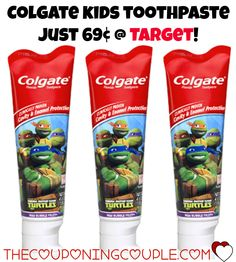 *CHEAP* Colgate Kids Toothpaste @ Target! Print this $0.50/1 Colgate Kids Toothpaste coupon and use it at Target to grab tubes for just $0.69!  Click the link below to get all of the details ► http://www.thecouponingcouple.com/cheap-colgate-kids-toothpaste-target-2/ #Coupons #Couponing #CouponCommunity  Visit us at http://www.thecouponingcouple.com for more great posts!