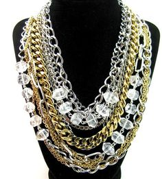 Image detail for -Big And Bold Reclaimed Necklace Jewelry - EcoBling Couture