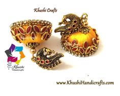 Silk thread jhumkas in yellow and red! Silk Thread Jhumkas, Silk Thread Earrings, Thread Jewellery, Birthday Girl Quotes, Girl Birthday, 11 August, Ear Rings, Ball Chain, Crystal Earrings