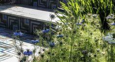 Carreaux ciment en extérieur chez Ateliers Zelij