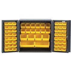 36 Mini Storage Cabinet Bin Color: Black