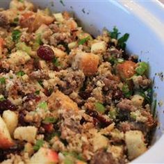 Awesome Sausage, Apple and Cranberry - I've been making this every single Thanksgiving for 9 years now. It's THAT good!