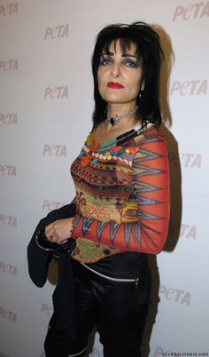 Siouxie Sioux at Peta event