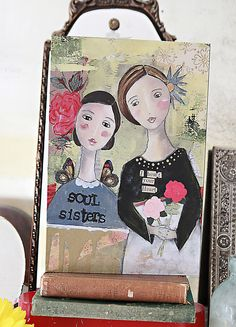 "8""x12"" Wall Art-Soul Sisters 