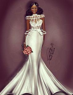 Peniel Enchill #fashion #fashiondesigner via Instagram #wedding