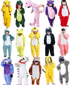 Hot Sale Kids Pajamas Kigurumi Unisex Cosplay Animal Costume Onesie Sleepwear #Unbranded #Onesie