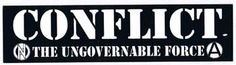 Conflict- Ungovernable Force sticker (st777)