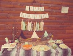 A Vintage Pow Wow Cabin Party ~ #kid #party #diy