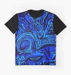 T-Shirt Blue symbols. Designer Ludovico Misino - Ludodesign