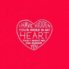 Your Word is Hidden in My Heart💓