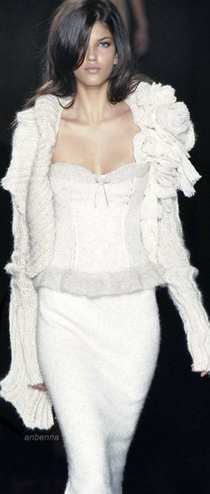 Ermanno Scervino-- love the sweater with all of that mack on the shoulder. Love it.
