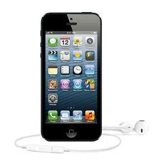 iPhone 5 nero frontale con earpods