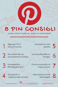 Come utilizzare al meglio Pinterest sfruttando il potenziale del visual content. Social Media Tips, Social Networks, Post Pinterest, Social Media Marketing, Digital Marketing, Hash Tag, Pinterest Marketing, Facebook Sign Up, Web Development