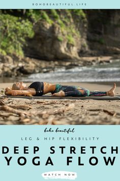 This 20 minute yoga practice is the perfect yoga class for hikers, dancers, cyclists, dog walkers, and anyone looking for a deep lower body stretch and relief. Yoga Flow Sequence, Yoga Sequences, Pilates Workout, Boho Beautiful, Beautiful Life, Lower Body Stretches, Yoga Leg Stretches, Stretching Exercises, Yoga For Legs