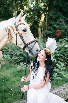 Unique Wedding Inspiration Featuring A Bride in A Feathered Headdress