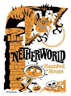 Art for Netherworld Haunted House in Atlanta..I had so much fun Friday!!!!!!!!!!!!!!!