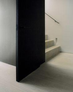 Regent's Park Loft is a minimal monochrome apartment by Originate Bauhaus, Agi Architects, Steel Trusses, Monochrome Interior, Dormer Windows, Loft, Interior Photography, Wet Rooms, Contemporary Architecture