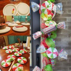 DIY Christmas Candy Mint Garland - Homemade crafts and a neat idea to decorate for the holidays or a party.
