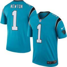 Nike Cam Newton Carolina Panthers Blue Color Rush Legend Jersey