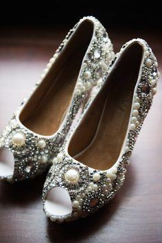 stunning wedding shoes; Photo: Elizabeth Craig Photography