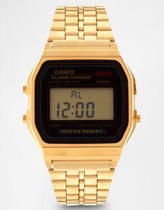 Image 1 ofCasio A159WGEA-1EF Gold Digital Watch