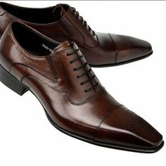 Buy 2017 New Genuine Leather Business Shoes Men Classic Shoes Men Casual Leather Oxfords Men Dress Shoes at Wish - Shopping Made Fun Leather And Lace, Leather Men, Leather Shoes, Leather Fashion, Men Fashion, Leather Wallet, Black Leather, Men Dress, Dress Shoes