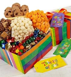 Popcorn Gift - Gourmet Popcorn and Chocolate sampler - http://www.yourgourmetgifts.com/popcorn-gift-gourmet-popcorn-and-chocolate-sampler/