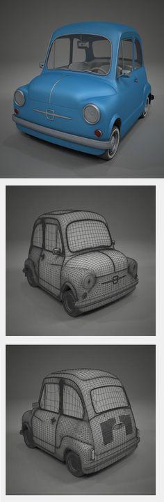 Fiat 600 Toon Car by German Lagna