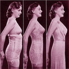 Before the advent of spanx, corsets were a girl's best friend to perfect posture in an evening gown.  M'lady is quite well aligned, but her shoulders are a little too pulled back to be free.