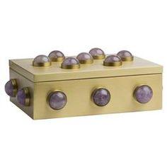 Monica Global Bazaar Purple Amethyst Cabochon Box - 9W | Kathy Kuo Home
