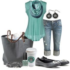 Casual, created by michellesolinas on Polyvore