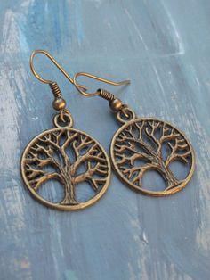 Tree of Life Earrings // Tree Jewelry // Circle of by FierceDeer, $10.00