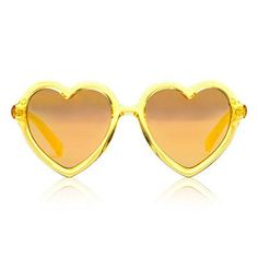 Yellow Jelly Mirror Lola Sunglasses by Sons + Daughters Eyewear - Junior Edition  - 1