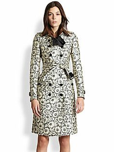 Burberry London - Brocade-Lace Trenchcoat