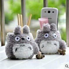 """Porta treco de pelúcia do """"Meu vizinho Totoro"""""""