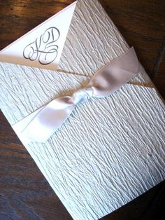 Clover Creek Silver Birch Wrap with Satin Ribbon available at Fitzgerald's Fine Stationery