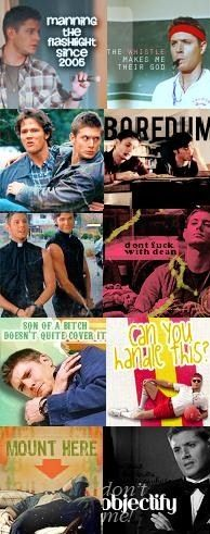 Dean Winchester (// Jensen Ackles //) and Sam Winchester (// Jared Padelecki //) funny montage.
