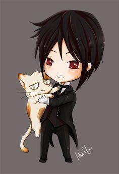 chibi Sebastian Michaelis  kitty | Black Butler | Moritsu