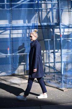 CRUBA MONTA COAT Shibori, Tie And Dye, Under Construction, Normcore, Blue, Style, Fashion, Moda, La Mode