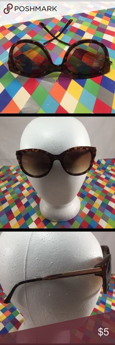 Fashion Tortoise Shell Color Shades Fashion Tortoise Shell Color Shades. One-size-fits-all most. Goldtone hardware and plastic. Minimal wear consistent with prior usage such as a few scratches. In good preowned condition. Estimated value $15. Accessories Sunglasses