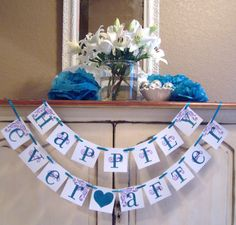 Super cute for the head table :-) Happily Ever After banner, custom colors, wedding banner, bride, bridal shower, wedding reception decoration, bridal shower decoration. $24.00, via Etsy.